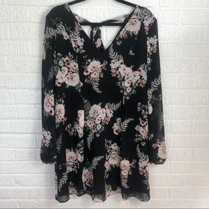 BCBG Black Floral Dress